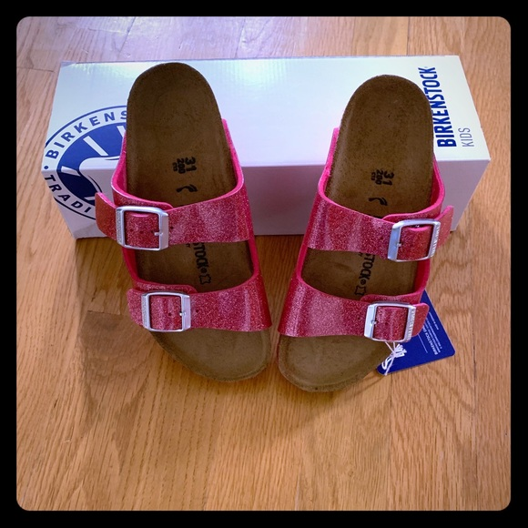 NIB Birkenstock Arizona Kids US 13 Pink Sandals NWT